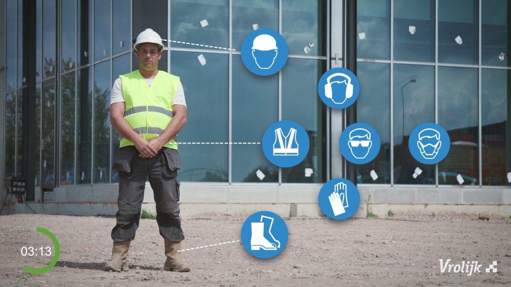 werknemer die onderdeel is van een instructievideo